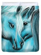 Mutual Companions- Fine Art Horse Artwork Duvet Cover