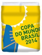 My 2014 World Cup Soccer Brazil - Rio Minimal Poster Duvet Cover