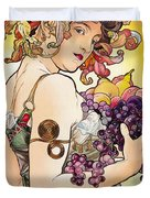My Acrylic Painting As An Interpretation Of The Famous Artwork By Alphonse Mucha - Fruit Duvet Cover