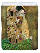 My Acrylic Painting As An Interpretation Of The Famous Artwork Of Gustav Klimt The Kiss - Yakubovich Duvet Cover