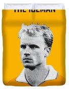 My Bergkamp Soccer Legend Poster Duvet Cover by Chungkong Art