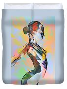 My Colorful Ballerina  Duvet Cover