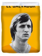 My Cruijff Soccer Legend Poster Duvet Cover