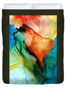 My Cup Runneth Over - Abstract Art By Sharon Cummings Duvet Cover
