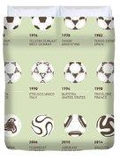 My Evolution Soccer Ball Minimal Poster Duvet Cover by Chungkong Art