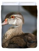 My Feather Friend - Wood Duck Duvet Cover