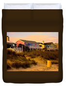 My Feet In The Sand At Isle Of Palms Duvet Cover