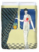 My Guests Have Not Arrived Duvet Cover by Georges Barbier