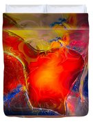My Heart On My Sleeve An Abstract Painting Duvet Cover