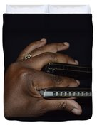 My Afro Blues Harmonica - Double Play Blues Duvet Cover