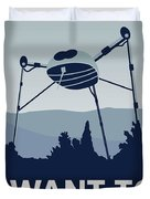 My I Want To Believe Minimal Poster-war-of-the-worlds Duvet Cover