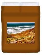 My Impression Of California Coastline Duvet Cover