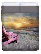 My Life As A Beach Chair Duvet Cover