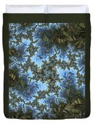 My Maui Fractal Art Abstract Palms And Blue Sky And Waters Duvet Cover