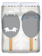 My Muppet Ice Pop - Statler And Waldorf Duvet Cover