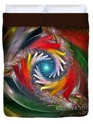 My My Beautiful Laundrette-fractal Art Duvet Cover by Karin Kuhlmann