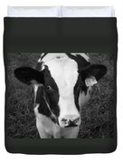 My Name Is Cow - Black And White Duvet Cover