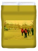 My Old Alma Mater Mcgill University Golden Olden Days Montreal Memories City Scenes Carole Spandau Duvet Cover