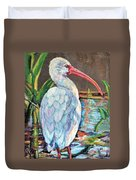 My One And Only Egret Duvet Cover