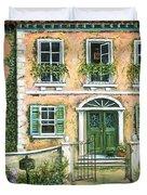 My Pink Italian Villa Duvet Cover