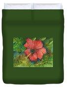 My Quiet Place-hibuscus Flower Duvet Cover