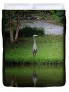 My Reflection - Heron Duvet Cover
