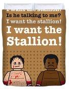My Rocky Lego Dialogue Poster Duvet Cover