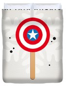 My Superhero Ice Pop - Captain America Duvet Cover
