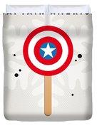 My Superhero Ice Pop - Captain America Duvet Cover