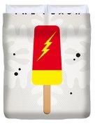 My Superhero Ice Pop - The Flash Duvet Cover by Chungkong Art