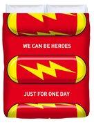 My Superhero Pills - The Flash Duvet Cover