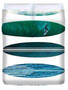 My Surfspots Poster-3-punta De Lobos-chile Duvet Cover