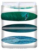 My Surfspots Poster-3-punta De Lobos-chile Duvet Cover by Chungkong Art
