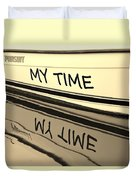 My Time Boat Name Duvet Cover