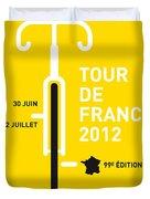 My Tour De France 2012 Minimal Poster Duvet Cover by Chungkong Art
