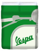 My Vespa - From Italy With Love - Green Duvet Cover