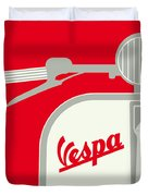 My Vespa - From Italy With Love - Red Duvet Cover
