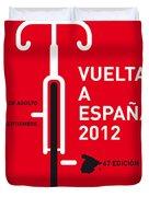 My Vuelta A Espana Minimal Poster Duvet Cover by Chungkong Art