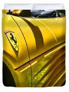 My Yellow Ferrari Duvet Cover