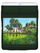 Myakka Palms Duvet Cover