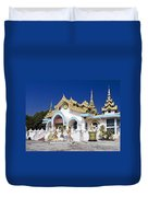 Myanmar Buddhist Temple Duvet Cover