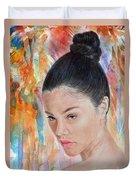 Myra Molloy Winner Of Thailand Got Talent II Duvet Cover by Jim Fitzpatrick
