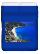 Myrtos Beach Kefalonia Greece  Duvet Cover