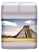 Mysterious Chichen Itza Duvet Cover