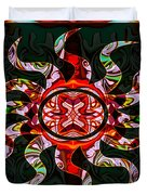 Mysterious Circumstances Abstract Sun Symbol Artwork Duvet Cover
