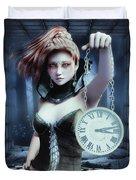 Mysterious Girl Duvet Cover