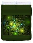 Mysterious Lights Duvet Cover