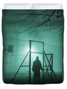 Mysterious Man At Night Duvet Cover
