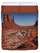 Mysterious Red Rocks Duvet Cover