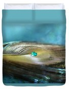 Mysterious Turquoise Duvet Cover